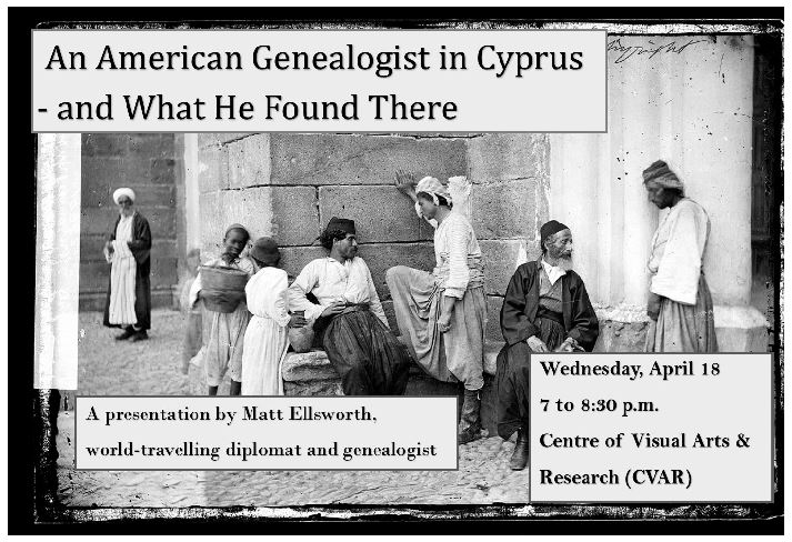 Lecture An American Genealogist in Cyprus