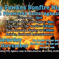 Guy Fawkes Bonfire Night and Fireworks Extravaganza