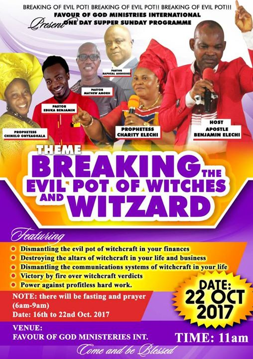 Breaking the Evil Pot of Witches and Wizard at OPPOSITE, MENSKROM