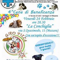 Ente Nazionale Protezione Animali - IV CENA Beneficenza