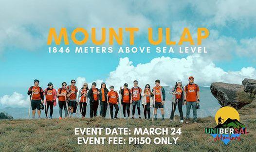 MT. ULAP DAYHIKE  March 24 (Sunday)