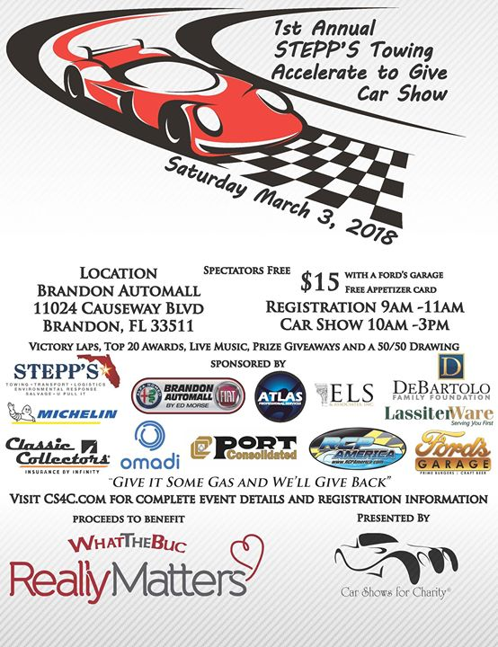 St Annual Stepps Towing Accelerate To Give Car Show At - Car show brandon fl