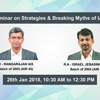 Free Seminar on Strategies and Breaking Myths of IAS Exam