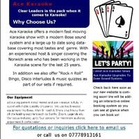 Ace Karaoke at The Crown Costessey