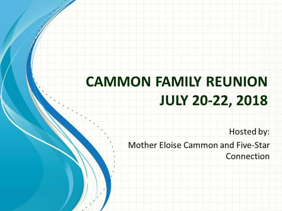 Cammon Family Reunion 2018