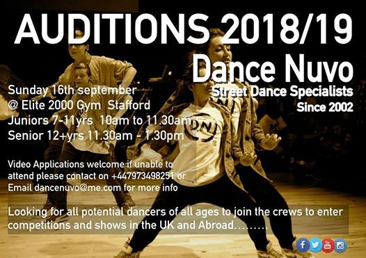 Dance Nuvo Crew Auditions
