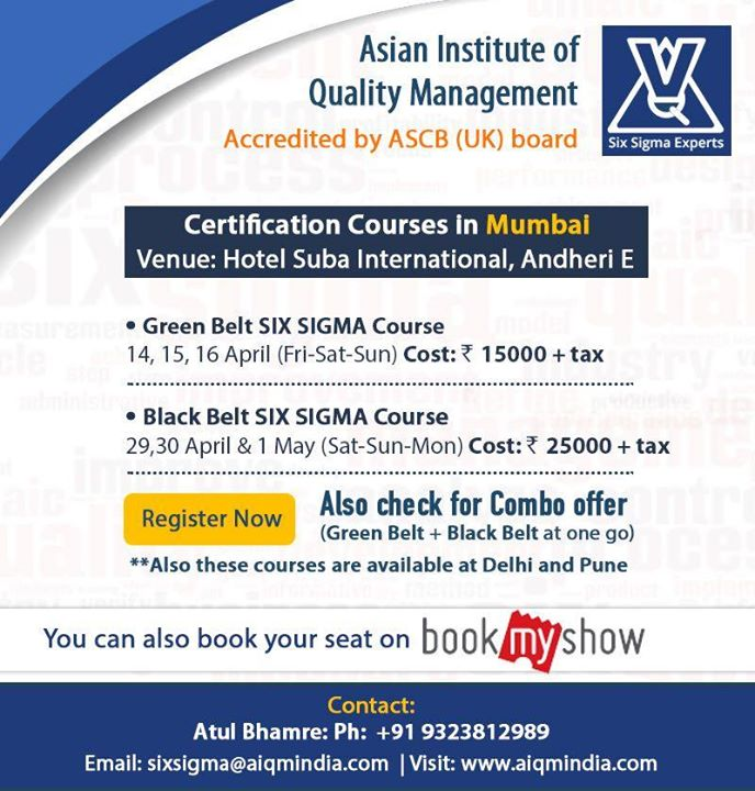 Lean Six Sigma Green Belt Certification Program At Aiqm Asia Pune