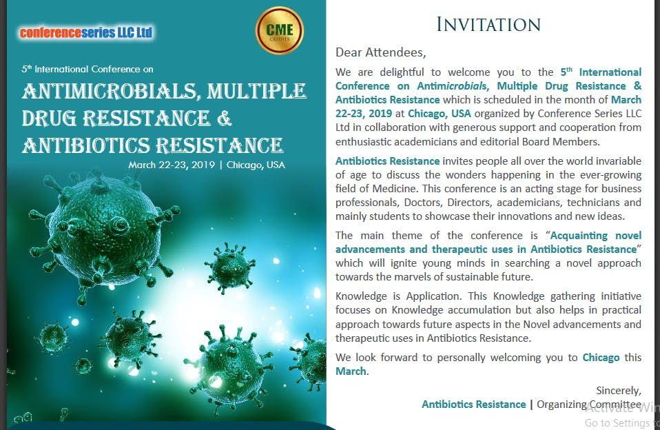 5th International Conference on Antibiotic & Antibiotics Resistance (CSE) A
