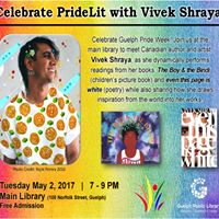 Pride Lit - an Evening with Vivek Shraya - May 2nd
