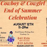 Cowboy &amp Cowgirl End of Summer Celebration