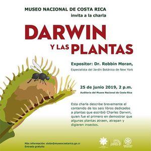 Charla Darwin y las plantas
