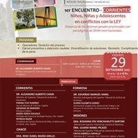 1er encuentro regional sobre NNA en conflicto con la Ley