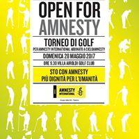 Open For Amnesty 28 maggio 2017