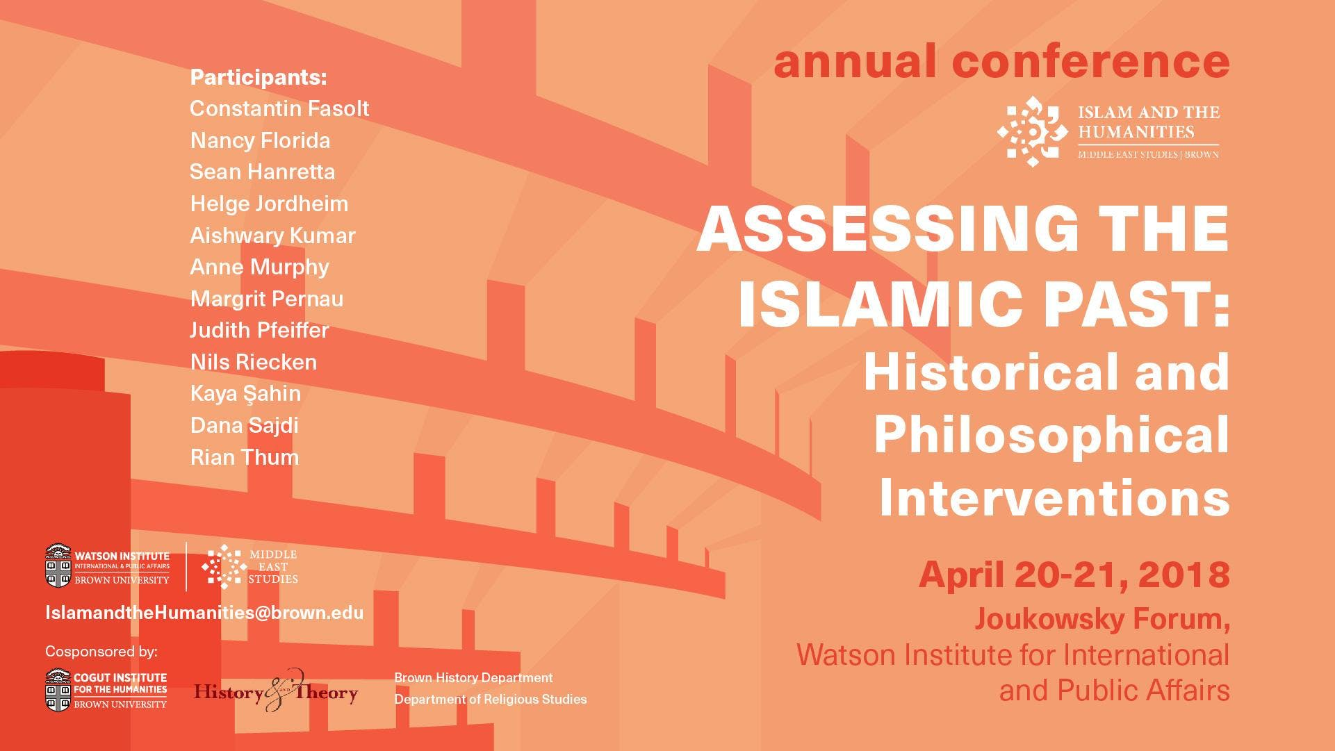 MES Islam and the Humanities 2018 Conference  Assessing the Islamic Past Historical and Philosophical Intervention