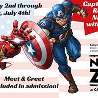 Captain America Returns to Naples Zoo with Iron Man