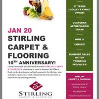 10 Year Anniversary - Stirling Carpet &amp Flooring