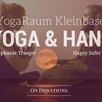 Yoga hour with live-Hang-Music Basel
