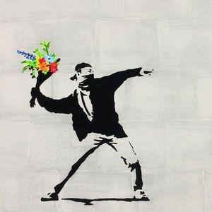 ArtNight Paint like Banksy - Blumenwerfer am 30042019 in Salz