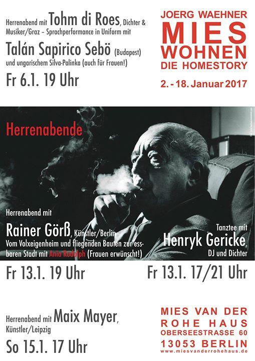 Herrenabend mit Rainer Gr Ania Rudolph & Henryk Gericke