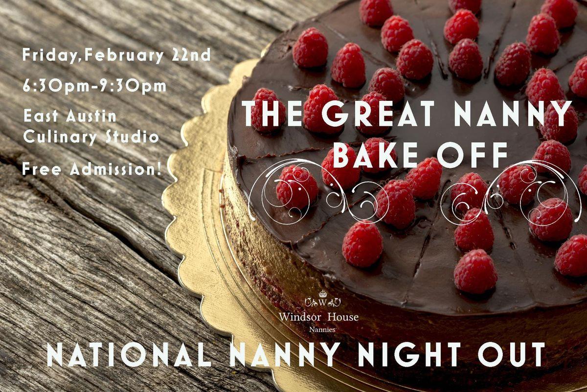 Great Nanny Bake Off - National Nanny Night Out