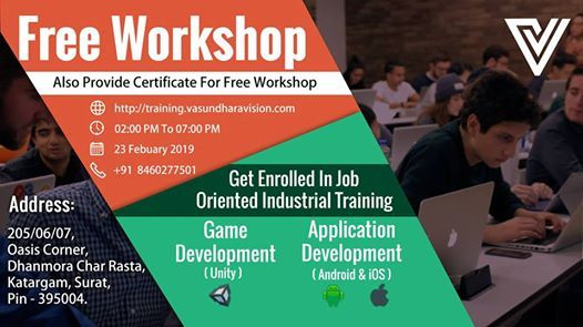 Free Workshop on Android  iOS  Unity Game Development