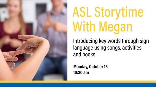 ASL Storytime with Megan | salt lake city