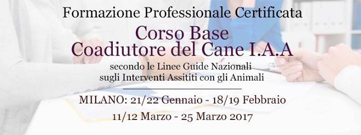 Milano Corso Base Coadiutore del Cane IAA