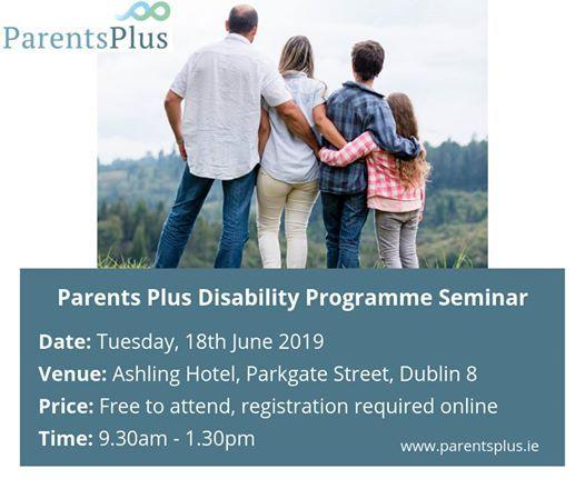 Parents Plus Disability Programme Seminar