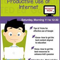 Workshop on Productive Use of Internet