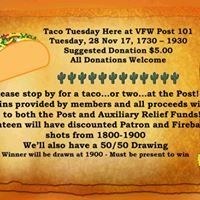 Taco Tuesday at VFW Post 101