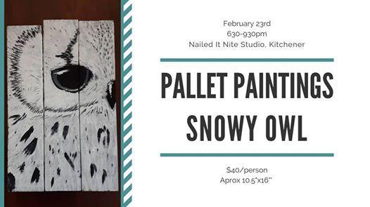 Pallet Paintings - Snowy Owl
