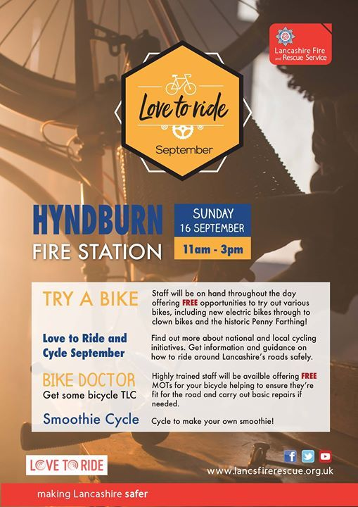 Love To Cycle September At Lancashire Fire And Rescue Service
