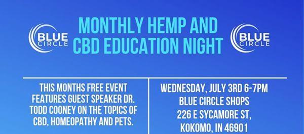 Hemp and CBD Education Night at Blue Circle Shops, Kokomo