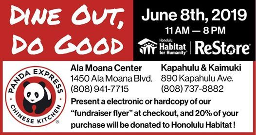 Dine Out, Do Good | Panda Express at Honolulu Habitat for Humanity