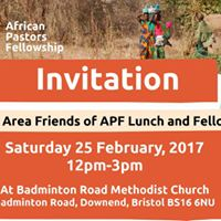 Bristol Area Friends of APF Lunch