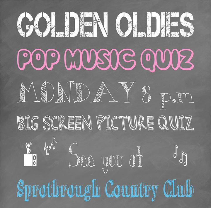 Oldies First Dance Songs: Mon 8 Pm At Sprotbrough Country