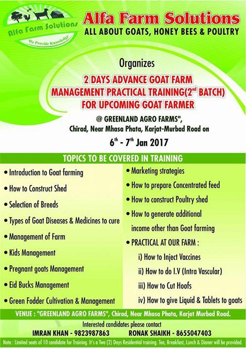 2 Days Advance Goat Farming Management Practical Training