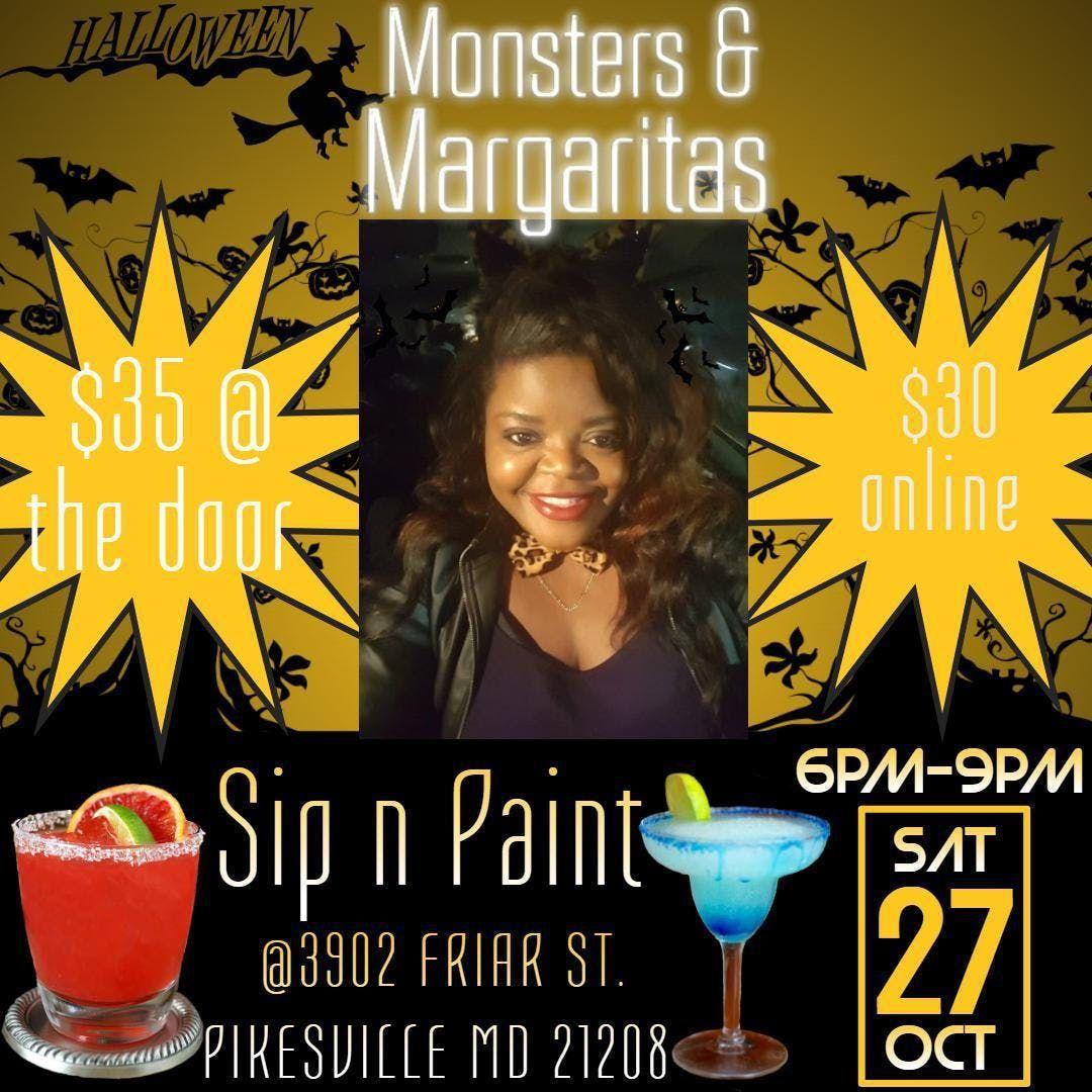 Monsters Margaritas Sip N Paint At 3902 Friar St Pikesville