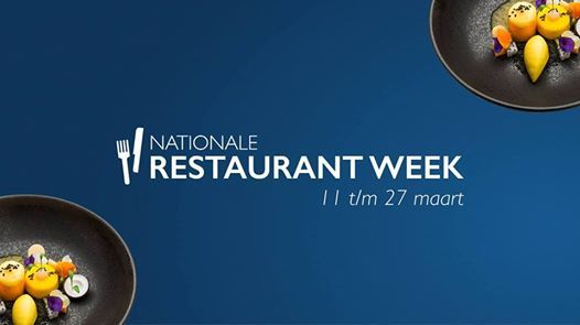 Nationale Restaurant Week Voorjaar 2019