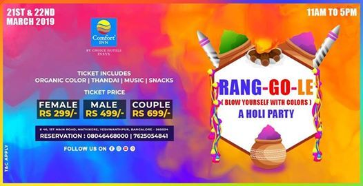 Rang-Go-le Holi Party 2019