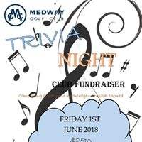Trivia Night - Medway Golf Club - ALL welcome