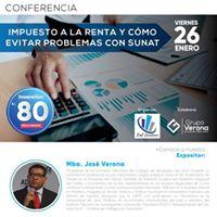 Conferencia&quotImp. a la Renta y como evitar Problemas con Sunat&quot