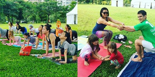 Complimentary Outdoor Family Yoga at Bishan Park (Apr)