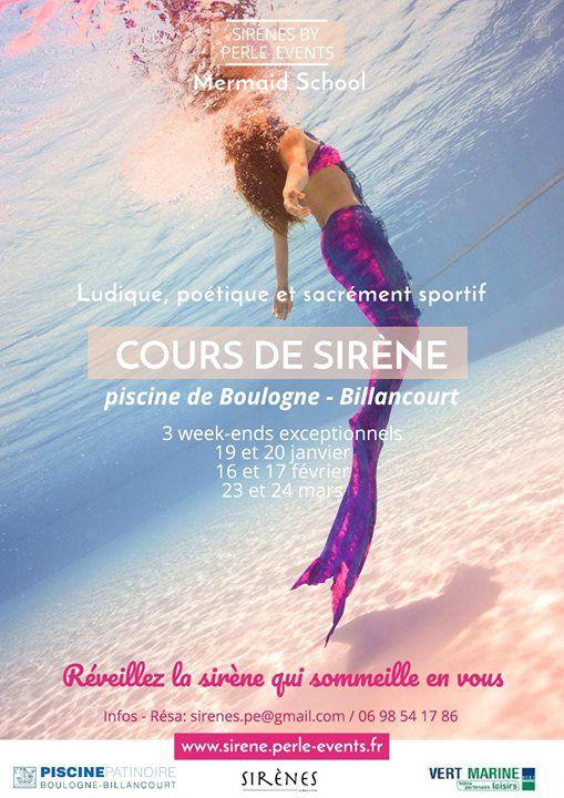 Cours De Sirenes A La Piscine De Boulogne At Piscine Boulogne