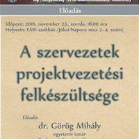 Grg Mihly A szervezetek projektvezetsi felkszltsge