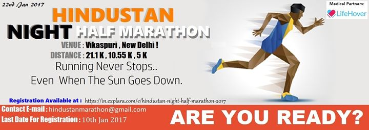 Hindustan Night Half Marathon 2017