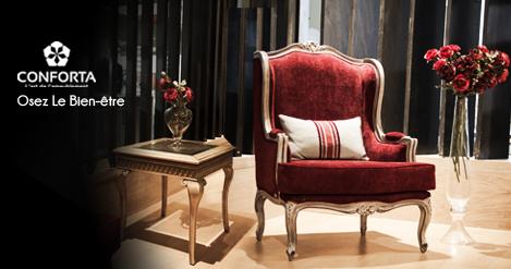 Conforta meubles au salon du meuble du kram at palais des exposition du kram - Couleur du salon sejour ...