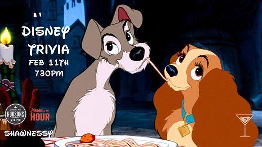 Disney Trivia - Hudsons Shawnessy Feb 11 730pm