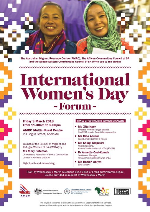 International Women's Day Forum at Australian Migrant Resource