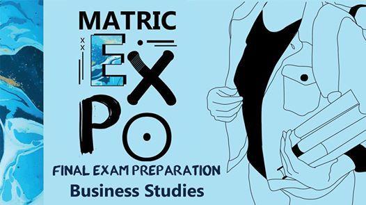 Business Studies - Matric Final Exam Preparation at AIE Matric Expo